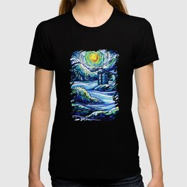 Tardis Lost In The Middle Wave T-shirt