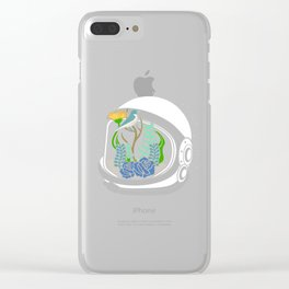 Astro Flowers Clear iPhone Case
