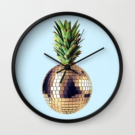 Ananas party (pineapple) blue version Wall Clock