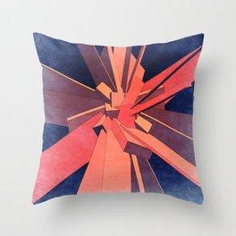 Vintage Orange Rectangles Throw Pillow