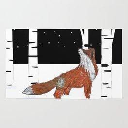 Pondering Fox Rug