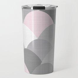 Pink Linen Scoops Travel Mug