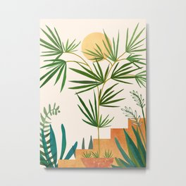 The Good Garden / Desert Plants Illustration Metal Print