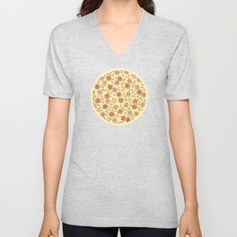 Candy Apple Blossom Yellow Unisex V-Neck