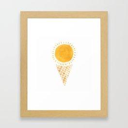 Sun Ice Cream Cone Framed Art Print