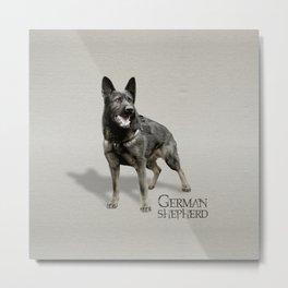 German Shepherd Dog  - GSD Metal Print