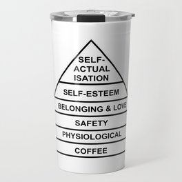 Hierarchy of Needs... Coffee! Travel Mug