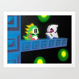 Inside Bubble Bobble Art Print