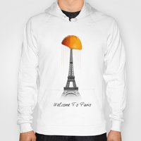 paris Hoodies featuring Paris by Mehdi Elkorchi