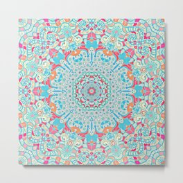 BOHO SUMMER JOURNEY MANDALA Metal Print