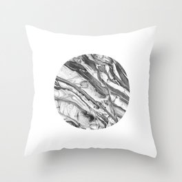 Coastal Rock Circle Throw Pillow