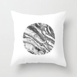 Coastal Rock Circle Throw Pillow
