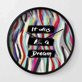 Dream B.I.G. Wall Clock