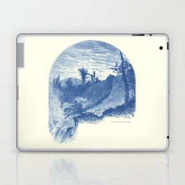 Lower Falls, Ticonderoga (cyan) Laptop & iPad Skin