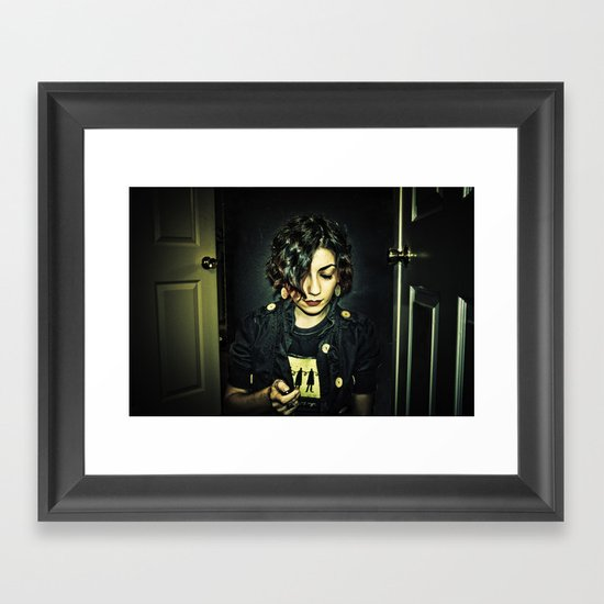 dark side of the sun Framed Art Print