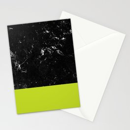Lime Punch Meets Black Marble #1 #decor #art #society6 Stationery Cards
