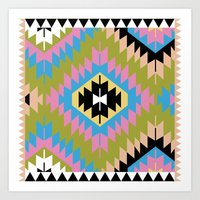 kilim Art Prints featuring Modern Kilim by Alisse Courter