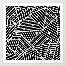 Abstraction Spots Close Up Black Art Print