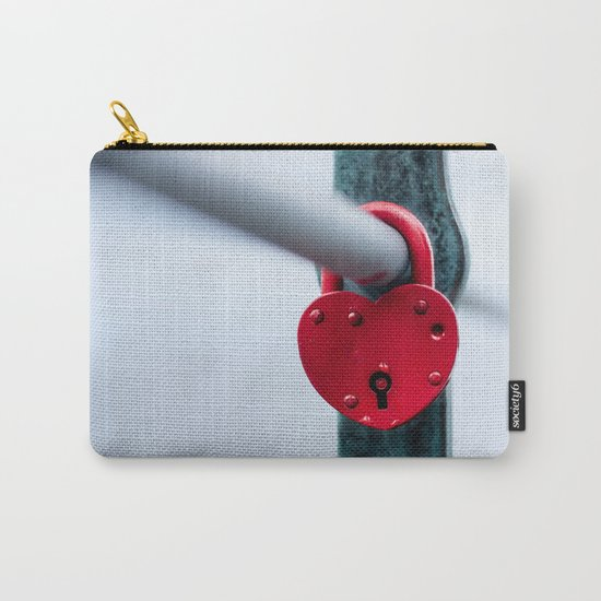 Red Heart Lock Carry-All Pouch