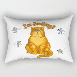 Smiling Cat Rectangular Pillow