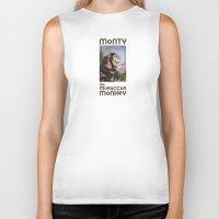 monty python Biker Tanks featuring Monty by hazael anaya