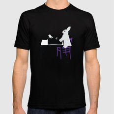 A Bunny's Life, animal gift, typing bunny, animal lover gift, bunny gift Mens Fitted Tee Black MEDIUM