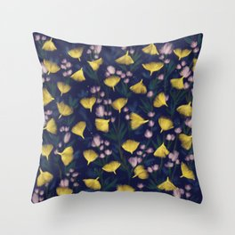 Ginkgo Blossoms Throw Pillow