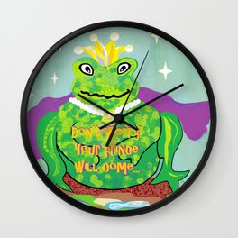 Don't Worry! Your Prince Will Come ... Wall Clock