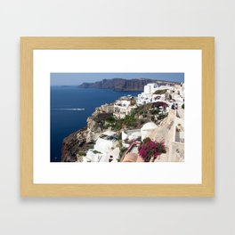 Santorini Blues and Whites Framed Art Print