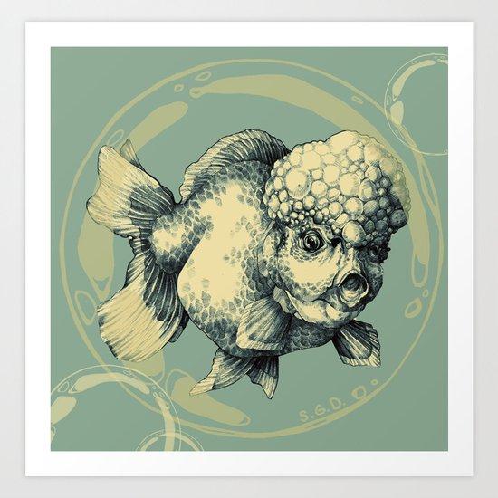 Bubble Head Fish Art Print