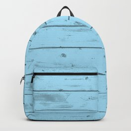 Blue Wood Texture Backpack