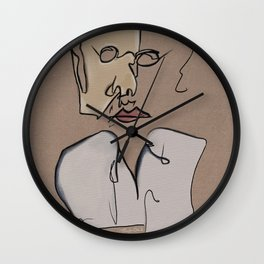 Chaos Portrait As A Picasso Confection Wall Clock