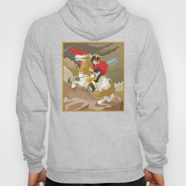 Napoleon Crossing the Alps by  Jacques-Louis David  Hoody