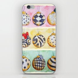 Christmas Baubles iPhone Skin