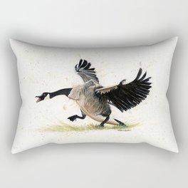 Cranky Goose - watercolor art, bird, animals Rectangular Pillow
