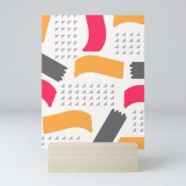 Modern triangles and happy colors Mini Art Print