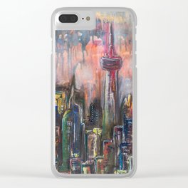 Toronto At Night Clear iPhone Case
