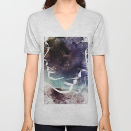 Complicated Feelings Abstract ART Unisex V-Neck