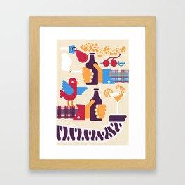 Dog house lounge Framed Art Print