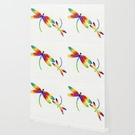 Little Rainbow Dragonflies Wallpaper
