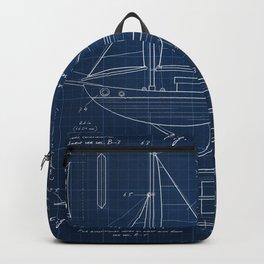 Toy Sailboat Blueprint Backpack