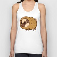 potato Tank Tops featuring Puglie Potato by Puglie Pug