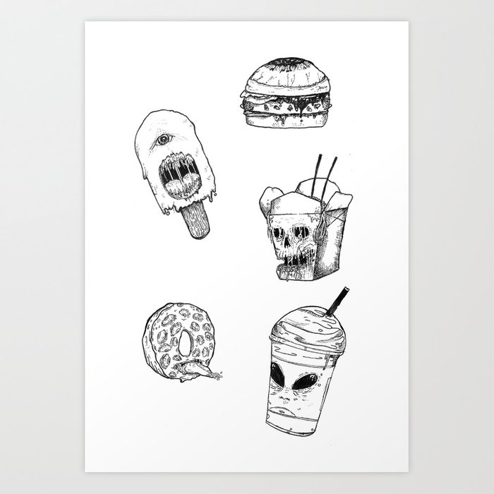 Monster Food Art Print