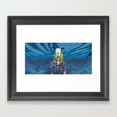 Cowgirl From Hell - Blue Framed Art Print