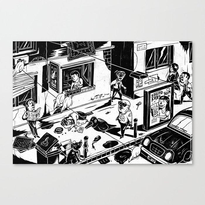 Pipien Molestus in the city Canvas Print