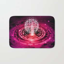 Cosmic Crown Chakra - v2.0 Bath Mat