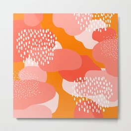 Autumn orange graphic pattern Metal Print