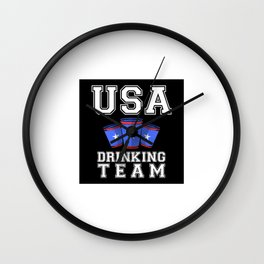 USA Drinking Team Wall Clock