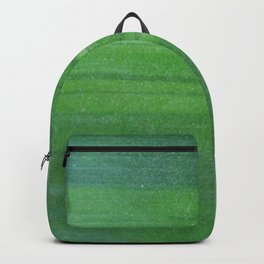 Abstract modern lime forest green stripes pattern Backpack