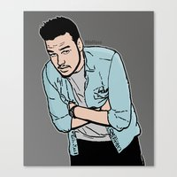 liam payne Canvas Prints featuring Liam Payne by 90's Class